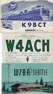 UNITED STATES - SMALL LOT QSL CARDS #2 AMATEUR RADIO