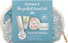 Derma E The Perfect Travel Kit - Night Cream, Serum, Detox Scrub, Bag & Mirror