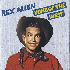 REX ALLEN - Voice Of The West - rare Bear Family Country - rares Cover 1986 CD