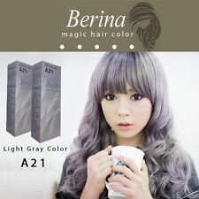2 BOXES Best Permanent Hair Color Cream Hair Style Dye Light Grey Silver A21 New