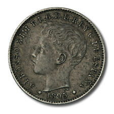 Puerto Rico Alfonso XIII 20 Centavos 1895 Extra Fine KM-22