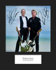STATUS QUO #1 10x8 SIGNED Mounted Photo Print - FREE DELIVERY