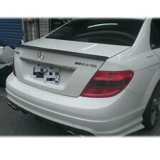 MB FOR BENZ W204 C-CLASS TRUNK SPOILER A TYPE UNAPINT BOOT Sport 4DR