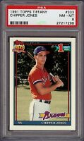 Very Rare 1991 Topps Tiffany #333 Chipper Jones Rookie Card RC PSA 8 NM - MT