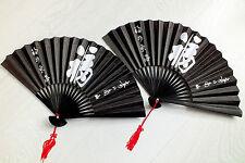 2 LIBRO GIAPPONESE VENTAGLIO NERO BIANCO Fortuna Cinese Fancy Dance Festa di Compleanno