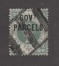 Great Britain SG O68 used 1890 1sh GOV'T PARCELS ovpt on QV
