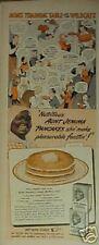 1943 Aunt Jemima Pancakes~Buckwheats Mom's Wildcats Football Black Americana Ad