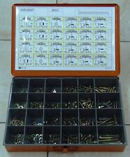 GRADE 8 FASTENER ASSORTMENT (bolts, nuts, washers) 500+ PCS with Storage Case