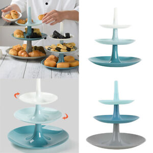 3 Tier Cupcake Stand Tray Cake Dessert Fruit Plate Wedding Party Display Tower