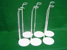 Doll Stands set of Six Light gray metal for 12 to 15 inch SKIPPER Dolls
