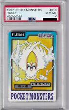 Pokemon Card Japanese Pidgey No. 016 Carddass Bandai Graded PSA 10 GEM MINT