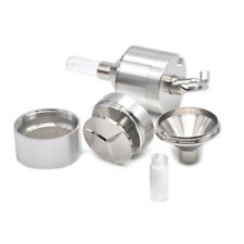 Powder Grinder 3 PC Metal Spice Hand Mill Funnel Snuff Snorter w/ Threaded Vial