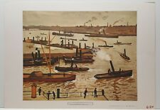 Pierre Albert Marquet The Port of Rotterdam Vintage Lithograph Art Print