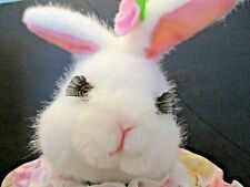 """Vintage Telco Easter Bunny Rabbit Large 26"""" Animated Musical Motionette Pink"""