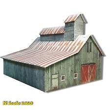 N Scale Building Weathered Barn Cardstock Model Kit PRE CUT & SCORED RM1N