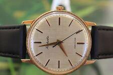 Gran para hombre Vintage de Chapado en Oro Reloj Mecánico De La Urss Raketa 21 Joyas