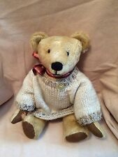Mohair Teddy With Sweater - Unknown Artist