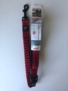 """25"""" / 64cm RED DOG  LEASH- ZS25R  EZYDOG Zero Shock Dog Leash"""