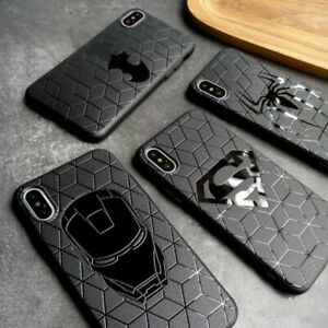 Anime Black Phone Case For iPhone 11 12 Pro Max Silicone Phone Cover Matte Case