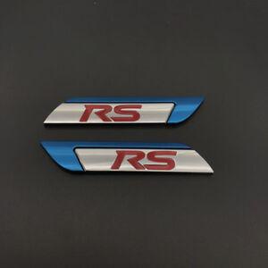Blue Chrome Metal RS Side Badge Emblem Sticker for Focus RS