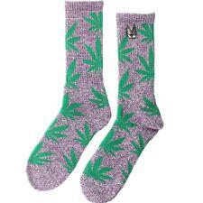 HUF x Snoop Dogg Plantlife Weed Crew Socks purple heather