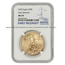 2020 $50 Gold Eagle NGC MS70 Early Releases American 1oz 22KT Bullion coin