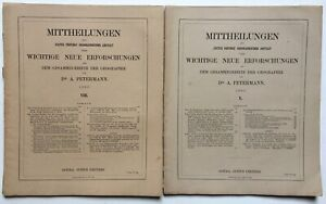 Exploration of South Australia - two articles in Petermann's Mittheilungen