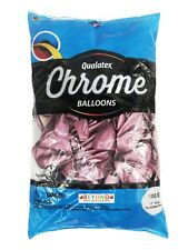 "Qualatex 11"" Round Chrome Mauve Metallic 100pc Latex Balloon"