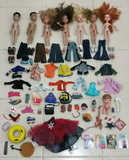 Large Lot of Bratz Dolls & Accessory clothes