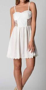 Cute White Lace Ladies / Womens Dress