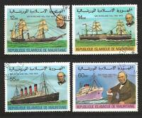 Bateaux Mauritanie (106) série complète de 4 timbres oblitérés