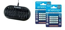 UNiROSS 8 Position  FAST AA/AAA BATTERY CHARGER & 8 x AAA ENELOOP BATTERIES