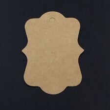 ETIKETTEN Pappe Kraftpapier 50x70mm 100 Stück Preisschilder p00474x2v