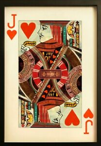 Jack of Hearts Collage Wall Art - Great statement piece!