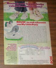 Seltene Werbung Mein kleines MY LITTLE PONY G1 SHOE SHOP Kinderschuhe NL 1988