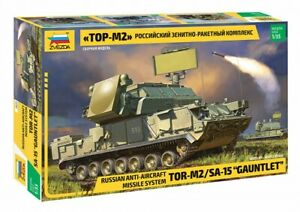 """Zvezda Scale Model Russian anti-aircraft missile system """"TOR-M2"""" 1/35"""