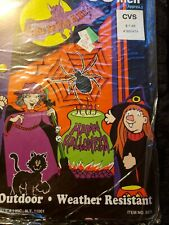 "Vintage Halloween Decor door cover ghosts 28"" x 60"" party trick or treat NOS CVS"