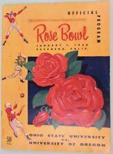 1958 Rose Bowl Program 4 Tickets and Newspapers Large Lot Pasadena Ca. Football