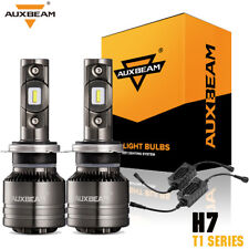 Auxbeam H7 8000LM 70W CREE LED Headlight Bulb Kits High/Low Beam Fog Light 6000K