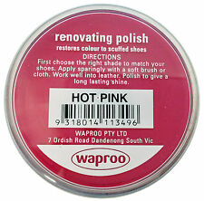 Waproo Hot Pink Shoe Polish Cream - Renovating Polish - Top Quility !!