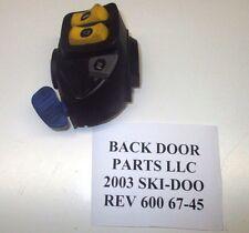 SKI-DOO 2003 REV 600 HO LEFT CONTROL RER START DIMMER SWITCH BUTTON 800 SUMMIT 6