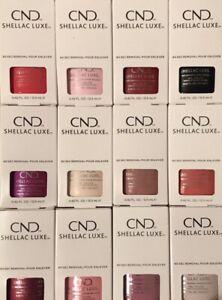CND Shellac Luxe UV Nail Polish - 100% Genuine - Choose Colour