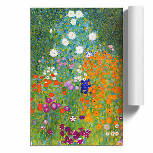 Gustav Klimt Flower Garden Poster Print Wall Art Unframed Picture Home Décor