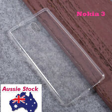 Crystal Clear TPU Gel Jelly Case Cover For Nokia 3 Free Screen Guard