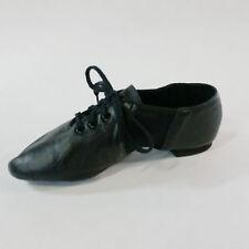 Capezio CG10 Adult Size 3M (Fits child 13) Black Split Sole Lace Up Jazz Shoe