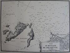 MOUILLAGE DE L'ILE ROUSSE ,1862, GAUTTIER, PLANS PORTS RADES MER MEDITERRANEE