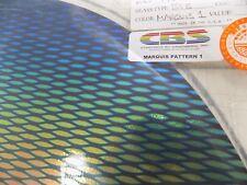 "Dichroic Glass:CBS 90 COE Marquis #1 Pattern on Flat Smooth Black - 17 Pcs 3""Sq"