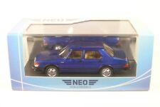 Saab 900 gli 1981 azul Metálico coche modelo 1 43 / Neo Scale Models
