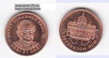 El papa Juan Pablo II./san pedro cu-medalla 18 mm (tb. UU) stampsdealer