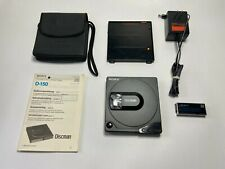 SONY Discman D-150 D-15 Black - RESTORED - Personal Portable CD Compact Player
